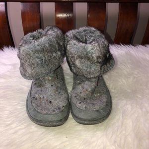 WOOLRICH Dutch Hollow Wool Upper Faux Fur Slippers